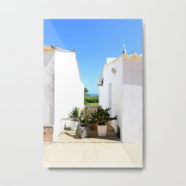 That magical space between these two houses Metal Print