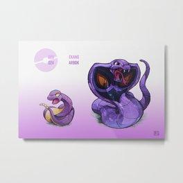 Pokevolution 023-024 Metal Print