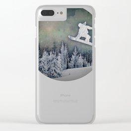 The Snowboarder Clear iPhone Case