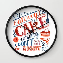 Cake Quote | Gilmore Girls Wall Clock
