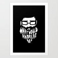 andreas preis Art Prints featuring ANDREAS by Riceveryday