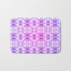 Floral Print - Magenta & Purple Bath Mat