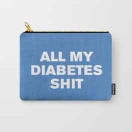 All My Diabetes Sh*t (Marina) Carry-All Pouch