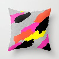 mars Throw Pillows featuring Mars by Tyler Spangler