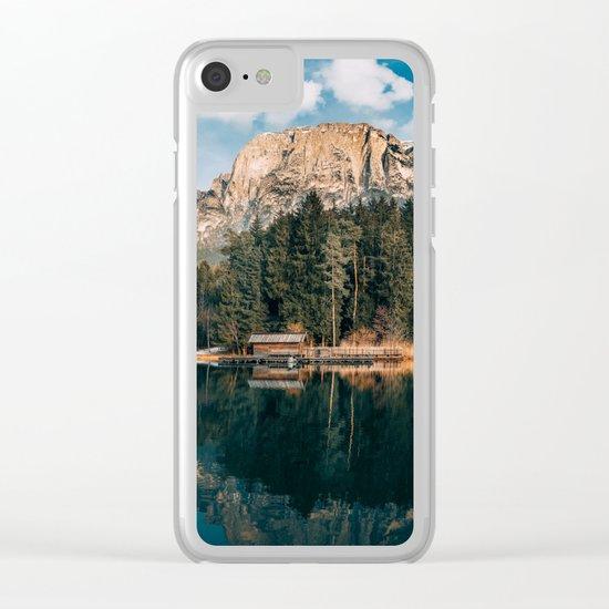 wanderlust landscape Clear iPhone Case