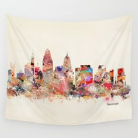 ohio Wall Tapestries featuring cincinnati ohio  by bri.buckley
