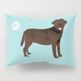Chocolate Lab funny fart dog breed gifts labrador retrievers Pillow Sham