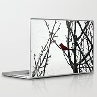 cardinal Laptop & iPad Skins featuring Cardinal by Emma Nettles