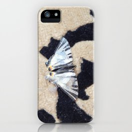 Butterfly machaon sitting on the carpet iPhone Case