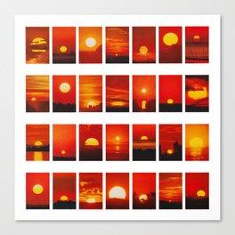 28 Sunsets Canvas Print