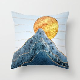 Sunset in the Volcanic Mountains Throw Pillow