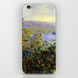 Monet: Flower Beds At Vetheuil iPhone Skin