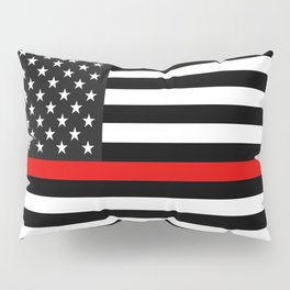 Thin Red Line American Flag Pillow Sham