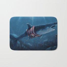 Shark in a Shirt Bath Mat