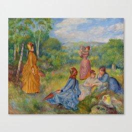 """Auguste Renoir """"Jeunes filles jouant au volant"""" Canvas Print"""