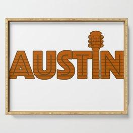 Retro Austin Texas Serving Tray