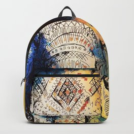 Watercolor elephant & mandala art Backpack