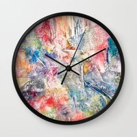 moon phase Wall Clocks featuring Phase by Tiffany Tremaine (birdy)