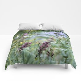Wildflowers on the Mountain Comforters