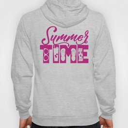 Summer TIME at the Pool Pink Hoody