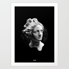 Sculpture Head Art Print