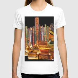 SHABBY CHIC ANTIQUE LIBRARY BOOKS, LEDGERS &  BOOKS T-shirt