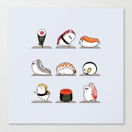 Sushi Yoga Canvas Print