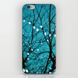 twinkly lights in a tree. Wonder iPhone Skin