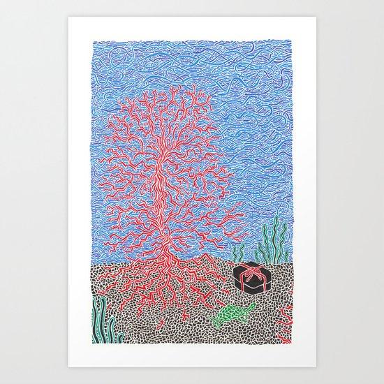 Back Story of Back Island Art Print
