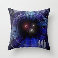 """stargate Throw Pillows featuring Stargate to """"Gliese 562"""" ! by capricorn"""