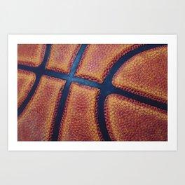 Basketball close-up Art Print