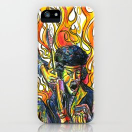 Rock and Flames iPhone Case