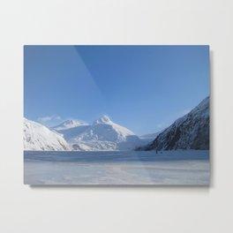 Portage Glacier Metal Print