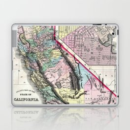 1872 Map of California and San Francisco Laptop & iPad Skin