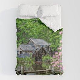 USA brook Mabry Mill, Virginia Fence Nature Watermill Creek Creeks Stream Streams water mill Comforters