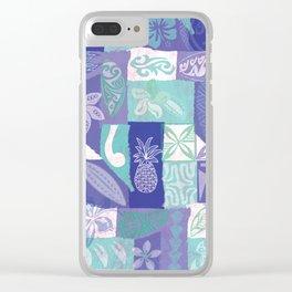 Samoan Tapa Design Clear iPhone Case