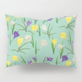 Colorful crocus flowers Pillow Sham