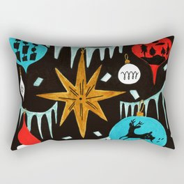 Mid Century Modern Christmas Tree Rectangular Pillow