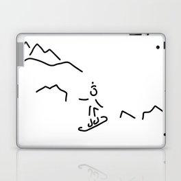 snowboarder skiing winter sports Laptop & iPad Skin