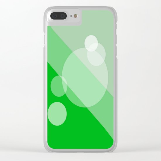Five Spheres Abstract - Green Clear iPhone Case