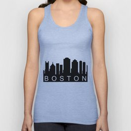 Boston skyline Unisex Tank Top