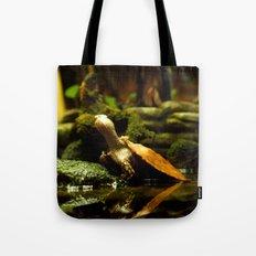 Mr. Turtle Workin' On His Tan Tote Bag