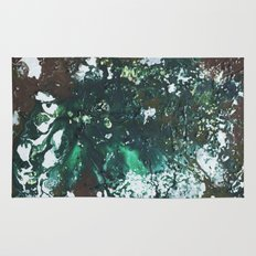 Green abstract liquidity. Rug