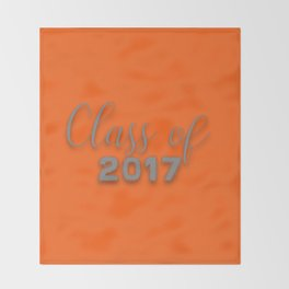 Class of 2017 - Orange and Grey Throw Blanket