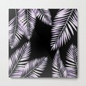 Watercolor tropical palm leaves purple by lavieclaire