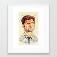 ben giles Framed Art Prints featuring ben by withapencilinhand
