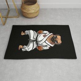 Karate Pug Dog Martial Arts Ninja Rug