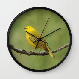 Yellow Warbler Wall Clock