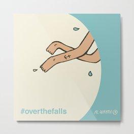 Over the falls Metal Print