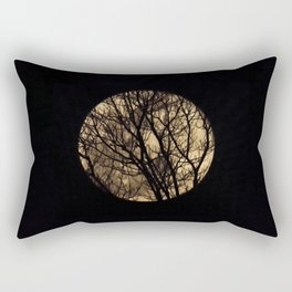 Full Moon though the trees Rectangular Pillow